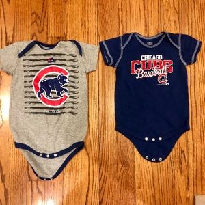 Cubs onesies 18 and 24 month